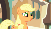 "Applejack ""did Apple Bloom at least bring flameproof boots?"" S4E17"