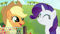 Applejack and Rarity pleased S6E10.png