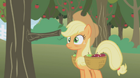 Applejack hit by a tree... again S01E04