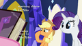 Applejack plugging her nose S7E14.png