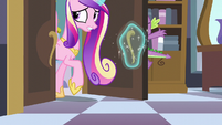 Cadance slams the door on Spike's face S5E10
