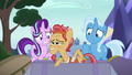 Cortland pops out of Trixie's trunk S8E19.png