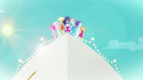 Equestria Girls stand at the ship's bow EGDS41