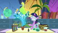 Filly Twilight Sparkle grows a giant flower S7E1.png