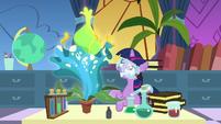 Filly Twilight Sparkle grows a giant flower S7E1