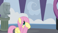 Fluttershy's mane covering her face S8E1