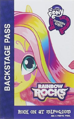 Fluttershy Equestria Girls Rainbow Rocks Backstage pass