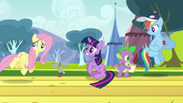 Fluttershy about to pass anemometer S2E22