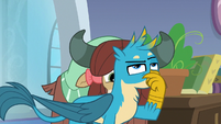 Gallus plugging his nose S8E21