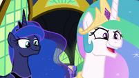 "Princess Celestia ""a rampaging beast?"" S9E13"