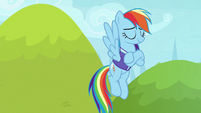 Rainbow Dash feeling proud of herself S8E17