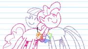 S04E18 Narysowane na kartce Maud i Pinkie przytulają się