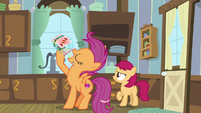 Scootaloo pigging out on candy S9E22
