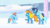 Spitfire thanks Dash on behalf of Wonderbolts S1E16
