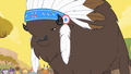 Thunderhooves announcing the time of the stampede S1E21.png