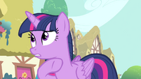 Twilight -have you seen anypony suspicious- S4E23