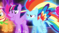 Twilight and Rainbow in Rainbow Power forms S5E13