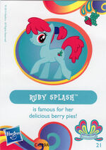 Wave 11 Ruby Splash collector card