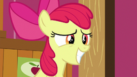 Apple Bloom grinning nervously S6E23