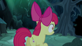 Apple Bloom looking toward her shadow S5E4.png