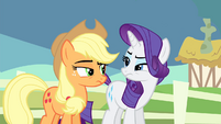 Applejack and Rarity suspicious S4E11