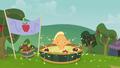 Applejack bobbing for apples S3E08.png