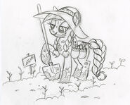 Applejack in the Garden Sketch