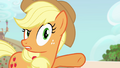 Applejack reins in her family's excitement S4E09.png