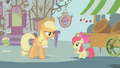 Applejack says Apple Bloom's apple-selling days are over S1E12.png