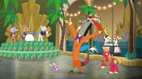 Discord, Spike, and Mac appear on the dance floor S6E17