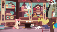 Discord leaving Raspberry Vinaigrette's shop S7E12