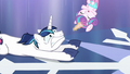 Flurry Heart about to land onto Shining Armor's hooves S6E2.png