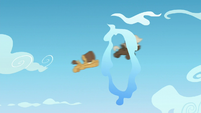 Hoops and Dumb-bell fly through a cloud ring S5E26