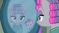 Maud and Pinkie's reflections in the mirror S7E4