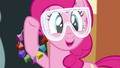 Pinkie Pie holding rock candy necklaces S4E18.png