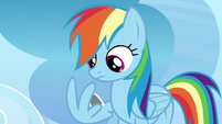 Rainbow Dash holding photo with her wing S7E7