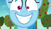 Rainbow Dash looking overjoyed S8E5