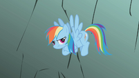 Rainbow Dash with her hooves crossed S1E07