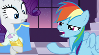 Rainbow almost about to spit onto her hoof S5E15