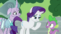 "Rarity ""luckily, we have just the thing"" S7E26"
