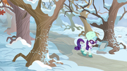 Rarity approaching Sweet Acorn Orchard MLPBGE