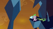Spike breathing fire at crystals S3E2