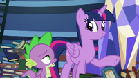 Spike finishing Twilight's sentence S8E24