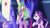 "Spike panicking ""I know!"" S7E15"