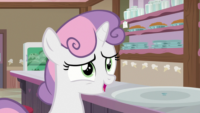 """File:Sweetie Belle """"another scoop would be fine!"""" S7E6.png"""