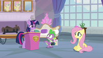 Twilight Sparkle congratulating Fluttershy S8E9