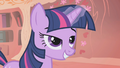 Twilight writing her letter to Celestia S1E6.png
