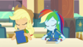 AJ and Rainbow sit exhausted at the lunch table EGDS4.png