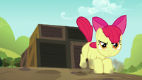 Apple Bloom lands on other side of crates S5E17