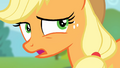 Applejack '...the only thing that didn't get packed' S4E09.png
